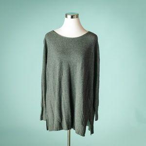 Joie S Gray Cotton Crew Neck Sweater